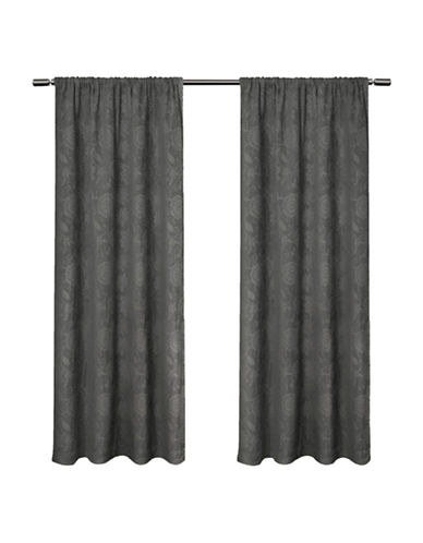 Home Outfitters Elle Large Window Curtain-SOFT GREY-84 inches