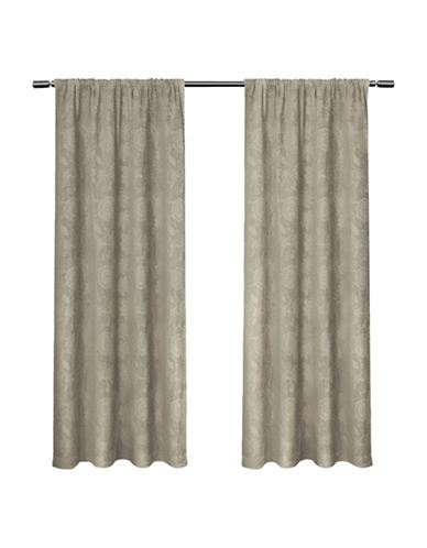 Home Outfitters Elle Large Window Curtain-TAUPE-84 inches