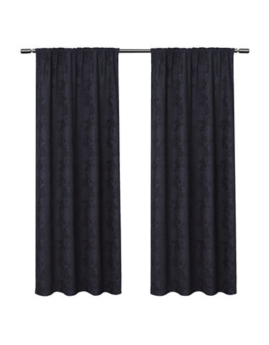 Home Outfitters Elle Large Window Curtain-NAVY-84 inches