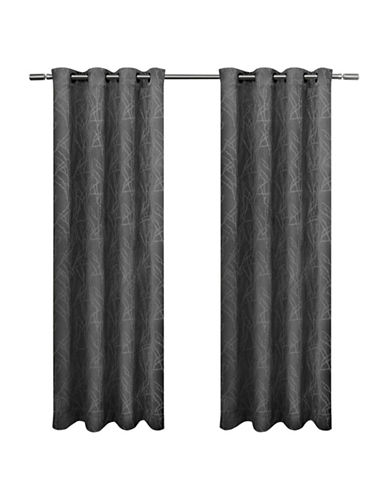 Home Outfitters Set of Two Twig Curtain Panels-BLACK PEARL-96 inches