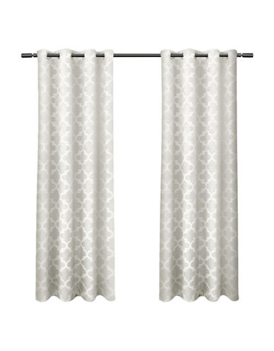 Home Outfitters Cartago Large Window Curtain-VANILLA-84 inches
