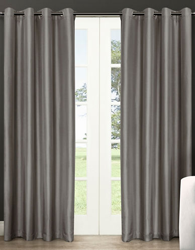 Home Outfitters Chatra Small Window Curtain-SILVER CLOUD-84 inches
