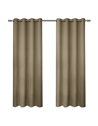 Home Outfitters Crete Small Window Curtain-CAMEL-84 inches