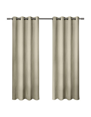 Home Outfitters Crete Small Window Curtain-OFF WHITE-84 inches