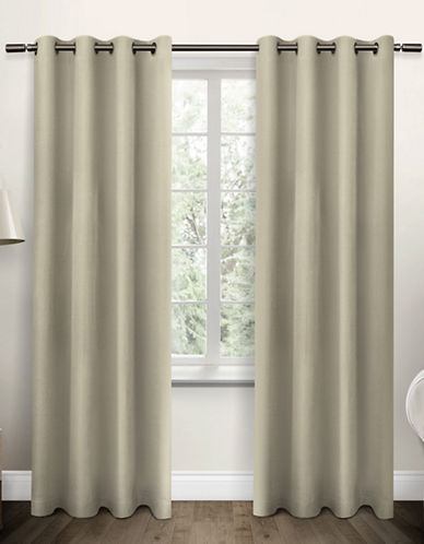 Home Outfitters Jakarta Basket Weave Curtain-LINEN-96 inches