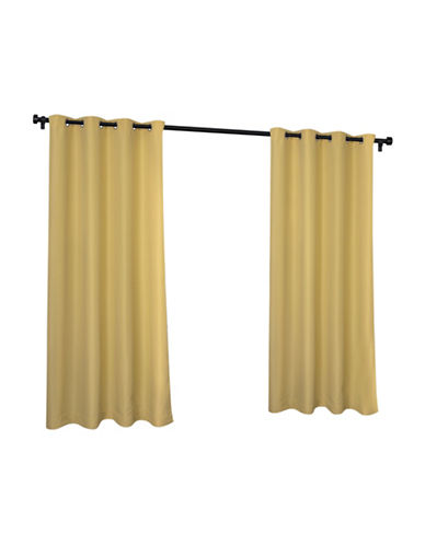 Home Outfitters Indoor and Outdoor Solid Large Window Curtain-YELLOW-108 inches