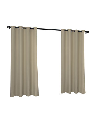 Home Outfitters Indoor and Outdoor Solid Large Window Curtain-TAUPE-84 inches