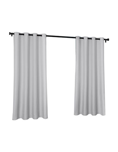 Home Outfitters Indoor and Outdoor Solid Large Window Curtain-CLOUD GREY-96 inches