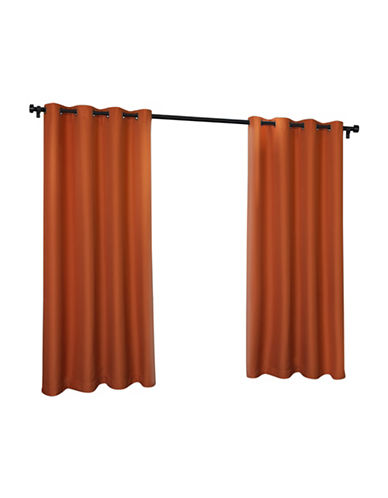 Home Outfitters Indoor and Outdoor Solid Large Window Curtain-MECCA ORANGE-84 inches
