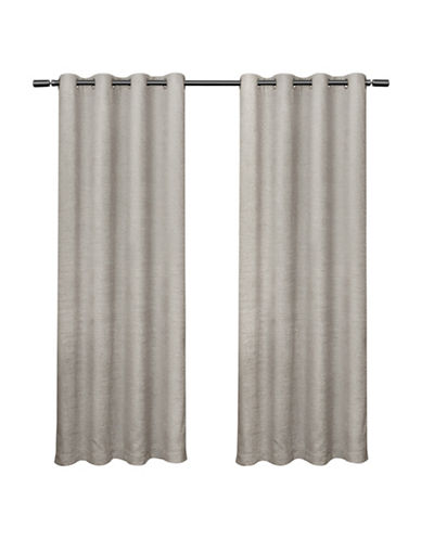 Home Outfitters Criss Cross Large Window Curtain-CLOUD GREY-84 inches
