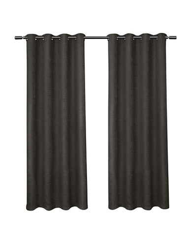 Home Outfitters Criss Cross Large Window Curtain-BLACK PEARL-108 inches