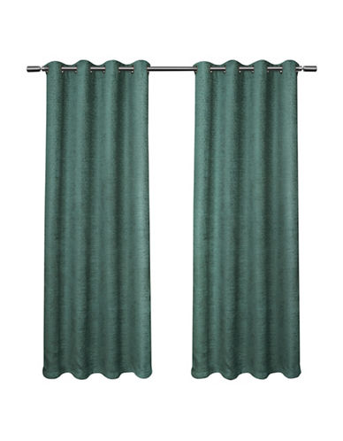 Home Outfitters Criss Cross Large Window Curtain-TEAL-84 inches