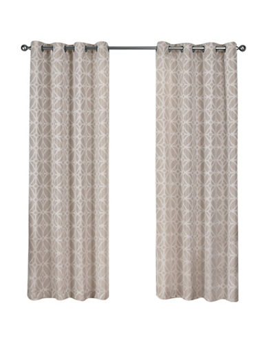 Home Outfitters Cressy Large Window Curtain-LINEN-84 inches