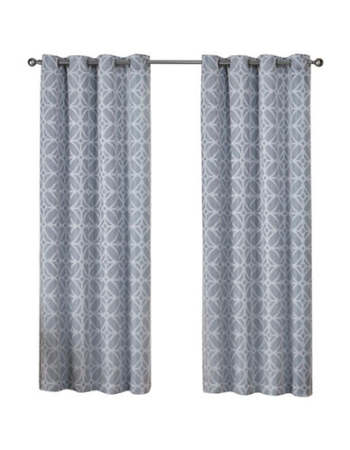 Home Outfitters Cressy Large Window Curtain-STEEL BLUE-84 inches