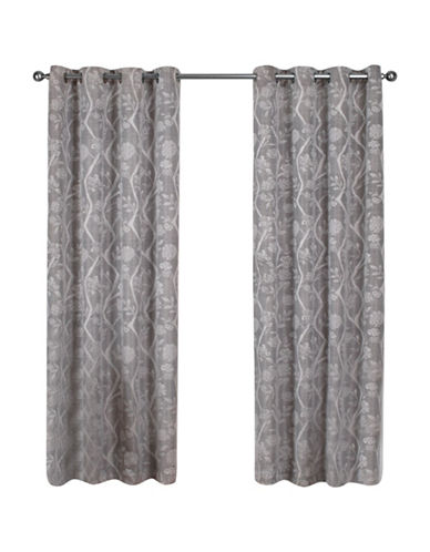 Home Outfitters Lamont Large Window Curtain-ASH GREY-108 inches