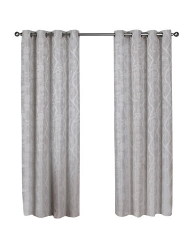 Home Outfitters Lamont Large Window Curtain-DOVE GREY-84 inches
