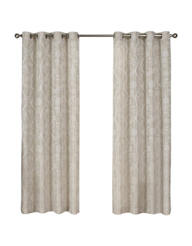 Home Outfitters Lamont Large Window Curtain-LINEN-84 inches