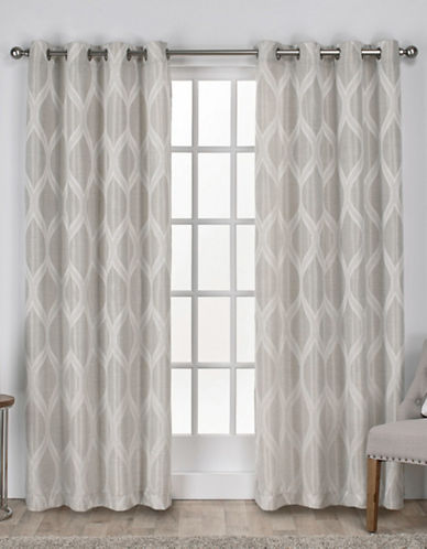 Home Outfitters Montrose Large Window Curtain-LINEN-84 inches