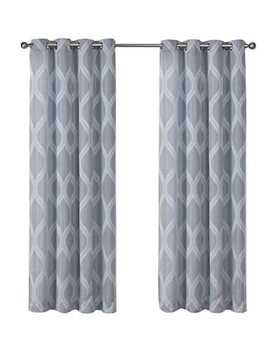 Home Outfitters Montrose Large Window Curtain-STEEL BLUE-96 inches