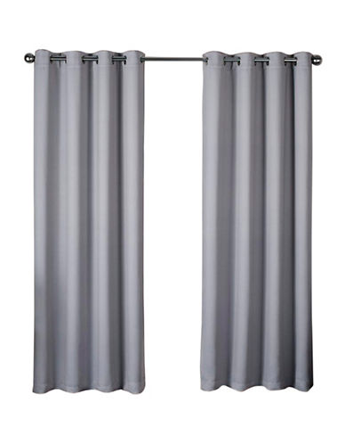 Home Outfitters Heath Window Curtain Panel-DOVE GREY-84 inches