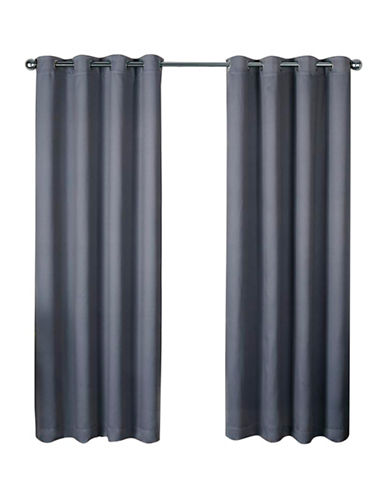 Home Outfitters Heath Window Curtain Panel-BLACK PEARL-96 inches