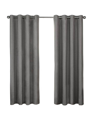 Home Outfitters London 108-Inch Curtain Panel-BLACK PEARL-108 inches