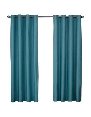 Home Outfitters London 108-Inch Curtain Panel-TEAL-84 inches