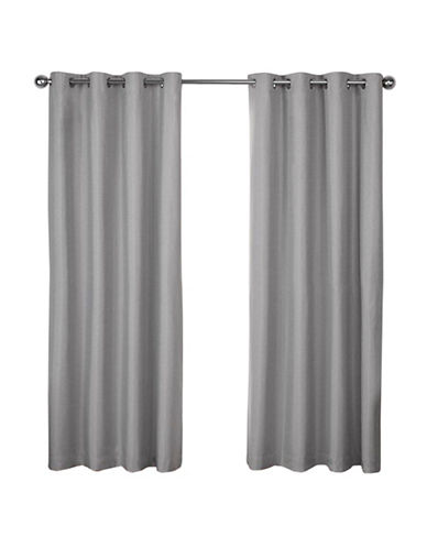 Home Outfitters London 108-Inch Curtain Panel-DOVE GREY-96 inches