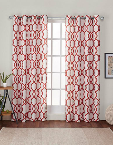 Home Outfitters Kochi 108-Inch Curtain Panel-MECCA ORANGE-84 inches