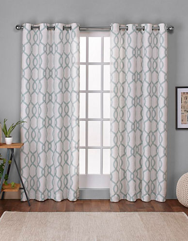 Home Outfitters Kochi 108-Inch Curtain Panel-SEA FOAM-108 inches