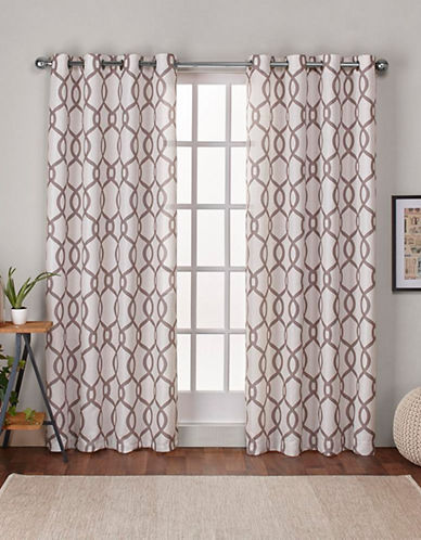 Home Outfitters Kochi 108-Inch Curtain Panel-NATURAL-108 inches