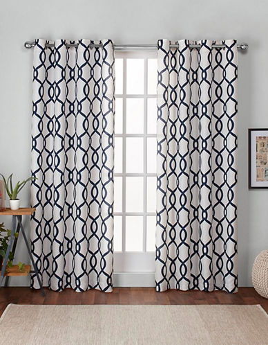 Home Outfitters Kochi 108-Inch Curtain Panel-INDIGO-96 inches