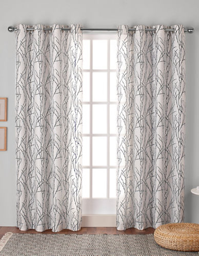 Home Outfitters Montrose Window Curtain Panel-BLACK PEARL-84 inches