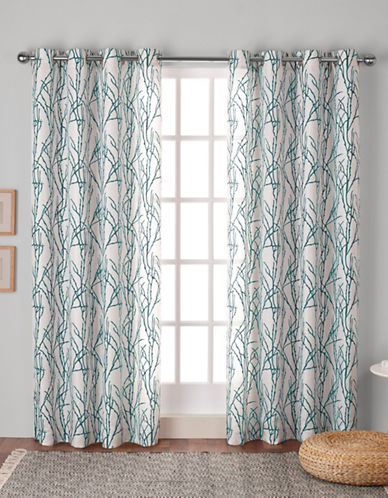 Home Outfitters Montrose Window Curtain Panel-TEAL-84 inches