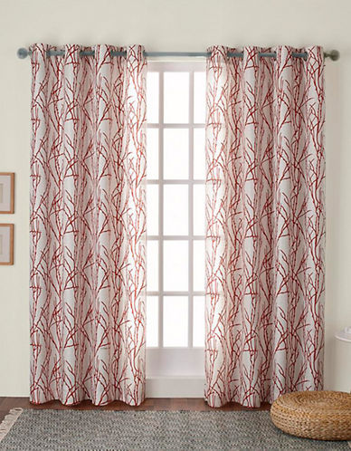 Home Outfitters Montrose Window Curtain Panel-MECCA ORANGE-96 inches