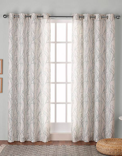 Home Outfitters Montrose Window Curtain Panel-SEA FOAM-84 inches