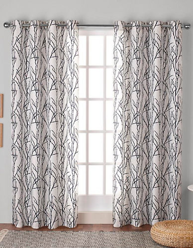 Home Outfitters Montrose Window Curtain Panel-INDIGO-84 inches