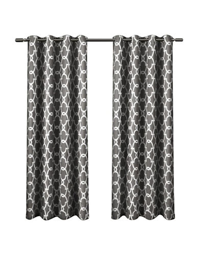 Home Outfitters Gates Window Curtain Panel-BLACK PEARL-84 inches