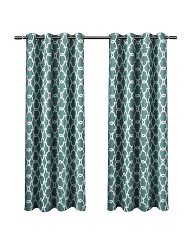 Home Outfitters Gates Window Curtain Panel-TEAL-63 inches