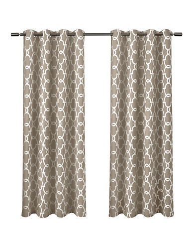 Home Outfitters Gates Window Curtain Panel-TAUPE-96 inches