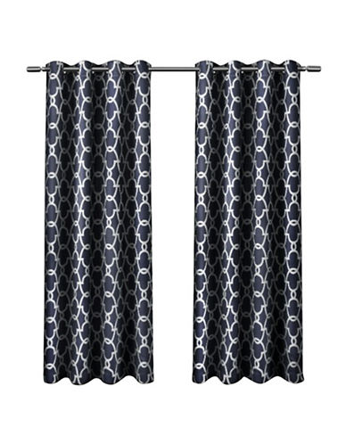 Home Outfitters Gates Window Curtain Panel-PEACOAT BLUE-63 inches