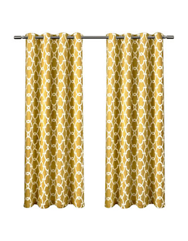 Home Outfitters Gates Window Curtain Panel-YELLOW-63 inches