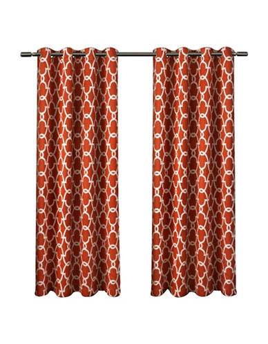 Home Outfitters Gates Window Curtain Panel-MECCA ORANGE-63 inches