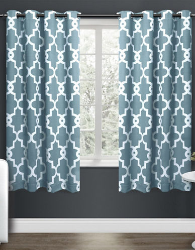 Home Outfitters Ironwork Large Window Curtain-TEAL-96 inches