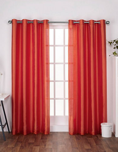 Home Outfitters Chatra Small Window Curtain-ORANGE CRUSH-84 inches