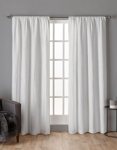 Home Outfitters Crosshatch Window Curtain Panel-WINTER WHITE-84 inches