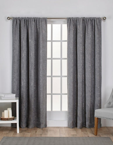 Home Outfitters Crosshatch Window Curtain Panel-SOFT GREY-96 inches