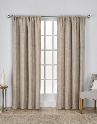 Home Outfitters Crosshatch Window Curtain Panel-TAUPE-84 inches