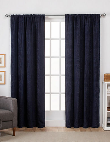 Home Outfitters Crosshatch Window Curtain Panel-INDIGO-96 inches