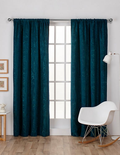 Home Outfitters Crosshatch Window Curtain Panel-TEAL-96 inches